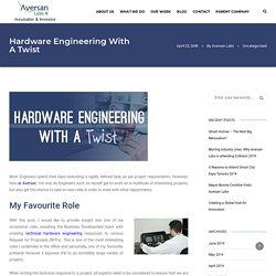 Hardware Engineering With A Twist - Aversan Labs
