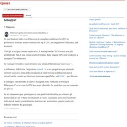 Hardware per mining di ethereum: cosa offre il mercato? Solo gpu? - Quora