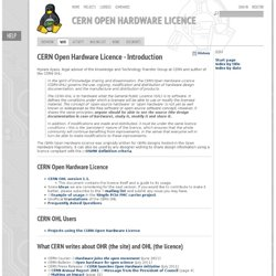 CERN Open Hardware Licence - Cernohl - Open Hardware Repository