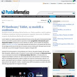 PI Hardware/ Tablet, 12 modelli a confronto - Android 3.0