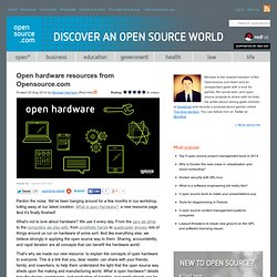 Open hardware resources and events from Opensource.com