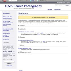 Hardware - Open Source Photography