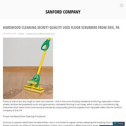Hardwood Cleaning Secret? Quality Used Floor Scrubbers from Erie, PA