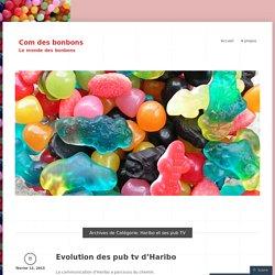 Haribo et ses pub TV « Com des bonbons