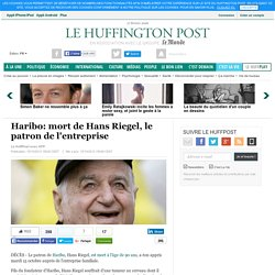 Haribo: mort de Hans Riegel, le patron de l'entreprise