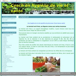 Le Haricot vert - Coach en hygiène de vie et santé