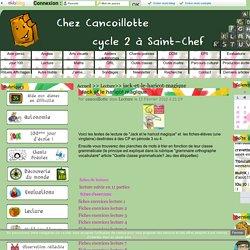 Jack et le haricot magique - Cancoillotte CP-CE1 Saint Chef
