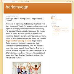 hariomyoga: Best Yoga Teacher Training in India – Yoga Retreats & Courses