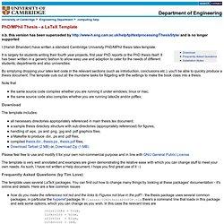 cambridge phd thesis latex