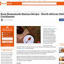 Harissa Recipe - North African Chili Paste Condiment
