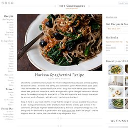 Recovered Harissa Spaghettini Recipe