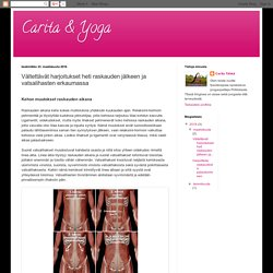 Carita & Yoga: Vältettävät harjoitukset heti raskauden jälkeen ja vatsalihasten erkaumassa