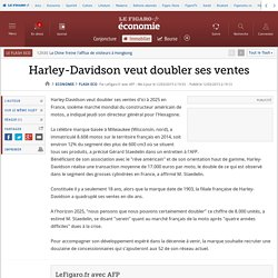Harley-Davidson veut doubler ses ventes