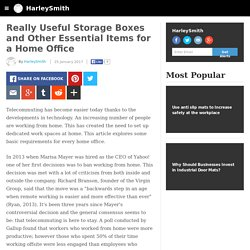 HarleySmith - Really Useful Storage Boxes and Other Essential Items for a Home Office