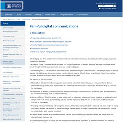 Harmful digital communications