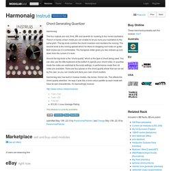 Instruō Harmonaig - Eurorack Module on ModularGrid