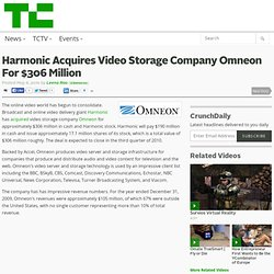 Harmonic Acquires Video Storage Company Omneon For $306 Million