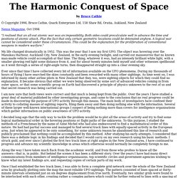 The Harmonic Conquest of Space by Bruce Cathie