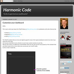 Harmonic Code: Customize your dashboard