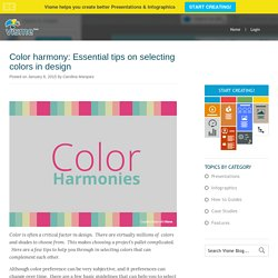 Color harmonies: Essential tips for selecting colors