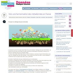 Vers une harmonisation des métadonnées en France