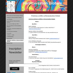 Praticiens certifiés en Harmonisation Globale - Site Jimdo de harmonisationglobale!