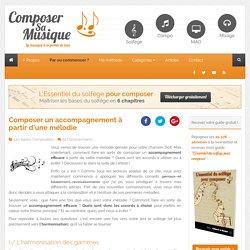 Harmoniser une mélodie