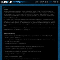 Harmonix Music Systems: Intern