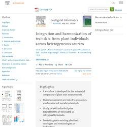 trait data from plant individuals across heterogeneous sources
