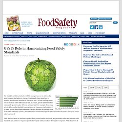 FOOD SAFETY MAGAZINE JUIN/JUIL 2009 GFSI's Role in Harmonizing Food Safety Standards