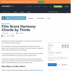 Film Score Harmony: Chords by Thirds - Envato Tuts+ Music & Audio Tutorial