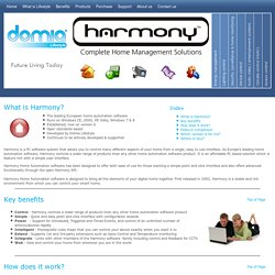 Harmony Home Automation Server