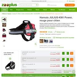 Harnais JULIUS-K9® Power, rouge pour chien