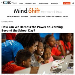 How Can We Harness the Power of Learning Beyond the School Day?