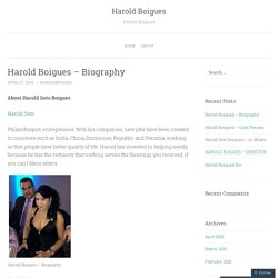 Harold Boigues – Biography