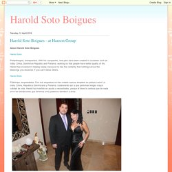 Harold Soto Boigues: Harold Soto Boigues - at Hanson Group
