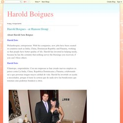 Harold Boigues: Harold Boigues - at Hanson Group