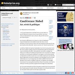 Harold Pinter: Conférence Nobel: Art, vérité & politique
