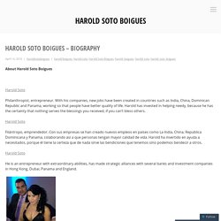 Harold Soto Boigues – Biography – Harold Soto Boigues