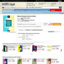 Manuel pratique de lecture labiale , Solal, Tests et Matériels en Orthophonie: Unitheque.com : Danièle HAROUTUNIAN: 9782353270323 Livre