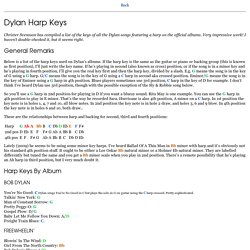 Harp Keys to Dylan Songs