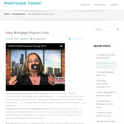 Harp Mortgage Program Hsbc