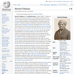 Harriet Tubman - Wikipedia