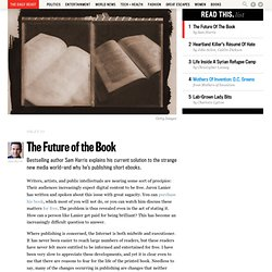 Sam Harris on the Future of the Book
