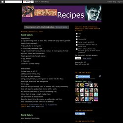 Harry Potter Recipes: rock cakes