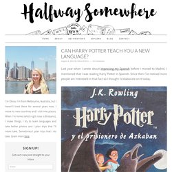 Can Harry Potter teach you a new language?