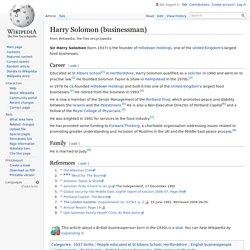 Harry Solomon (businessman)