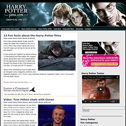 HarryPotterFansThe Harry Potter Fans: harry potter books and movies, harry potter stars and characters, harry potter fan events, harry potter games & more!