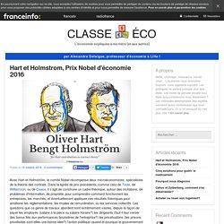 Hart et Holmstrom, Prix Nobel d'économie 2016
