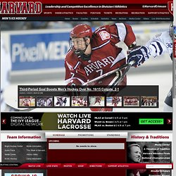 The Official Website of Harvard University Athletics: Harvard Athletics - GoCrimson.com